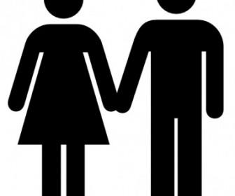 Vector Man And Woman Icon Vector Clip Art