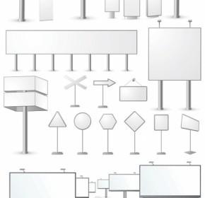 Vector Blank Billboard Series Vector Art