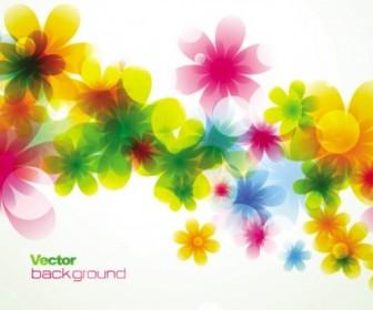 Vector Spring Flowers Background Dream 01 Flower Vector Art