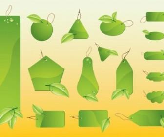 Vector Eco Labels Vector Art