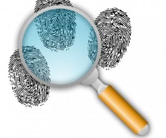 Vector Search For Fingerprints Vector Clip Art