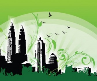 Vector Petronas Twin Towers Illustration Vector Art