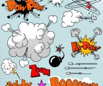 Vector Cartoon Explosion 01 Pattern Vector Art
