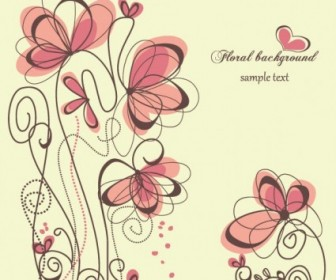 Vector Fashion Handpainted Flowers 1 Flower Vector Art