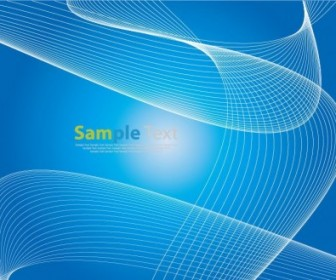 Vector Blue Wave Lines Background Abstract Vector Graphics