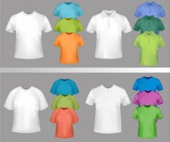 Vector Fine Tshirt Template 04 Vector Art