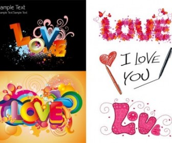Vector Love Colorful Pattern Vector Art