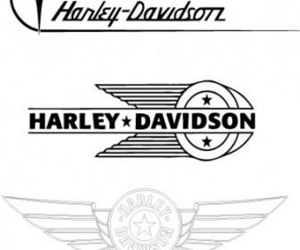 Vector HarleyDavidson Old Logos Logo Vector Art