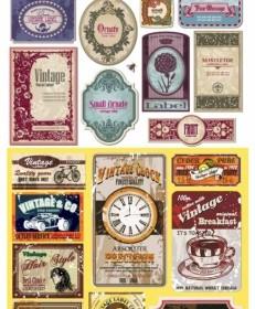 Vector European Nostalgia Label Vector Art