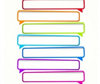Vector Color Paper Dialog Box 02 Vector Art