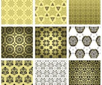Vector 15 Retro Wallpaper 02 Pattern Vector Art