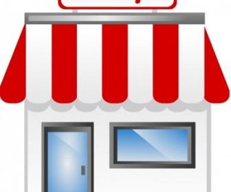 Vector Shop Front Icon Vector Clip Art