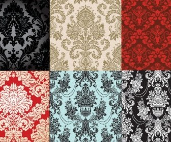 Vector 6 Shades Of Fashion Pattern Vector Art