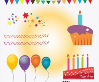 Vector Birthday Cake Vector Art