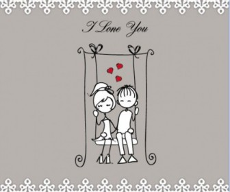 Vector Lines Issued On Valentine39s Day Illustrations 05 Heart Vector Art