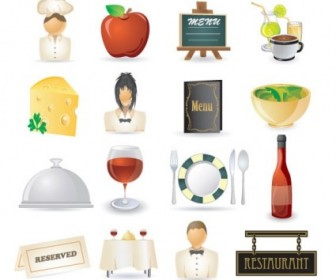 Vector Cartoon Restaurant Icon Vector Graphics
