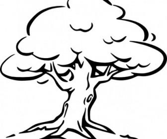 Vector Tree Outline Vector Clip Art