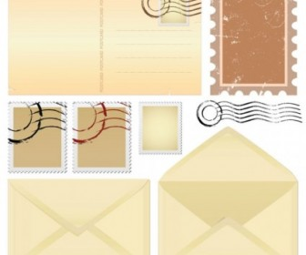 Vector Nostalgia Envelopes And Paper 01 Vector Art