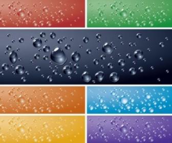 Vector Crystal Clear Water Drops 02 Vector Art