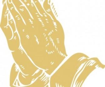 Vector Praying Hands Vector Clip Art