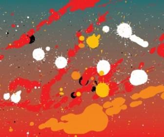 Vector Paint Splash War Vector Art