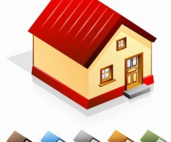 Vector House Set Icon Vector Graphics