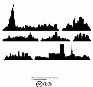 Vector City Skylines Vector Art