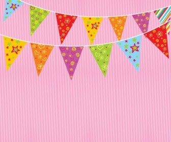 Vector Party Flags Vector Art