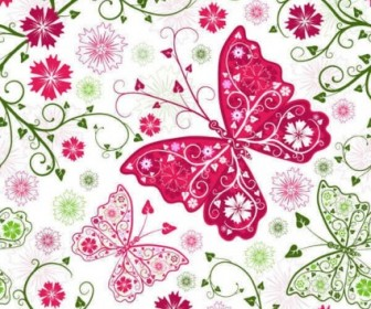 Vector Butterfly Pattern Background Vector Art