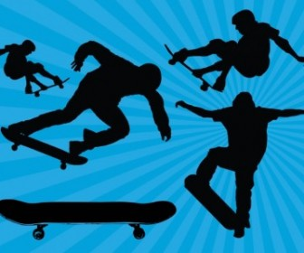 Vector Skateboard Silhouette Silhouettes Vector Graphics