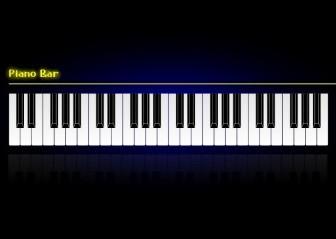 Vector Piano Bar Wallpaper Vector Clip Art