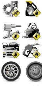 Vector Vehicle Maintenance And Repair Icon Vector Graphics