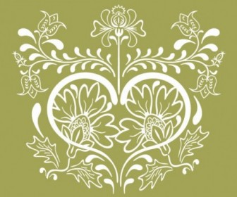 Vector Vintage Floral Design Graphic Flower Vector Art
