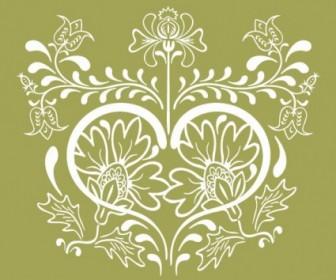 Vector Vintage Floral Design Graphic Flower Vector Art