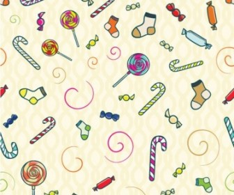 Vector Candy Seamless Pattern Vector Art