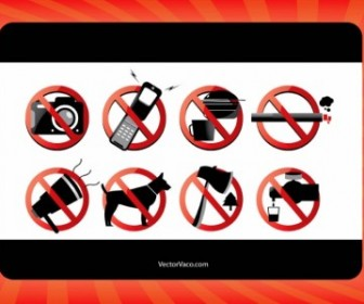 Vector Forbidden Signs Vector Art