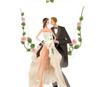 Vector Wedding Graphic 2 Vector Art