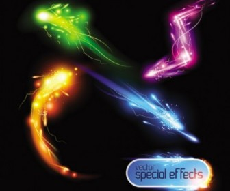 Vector Gorgeous Bright Light Effects 01 Vector Art