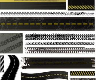 Vector Tire Brake Printed 03 Vector Art