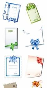 Vector 10 Blank Cards With Bow Vector Art