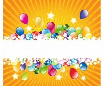 Vector Colorful Festive Balloon Vector Art