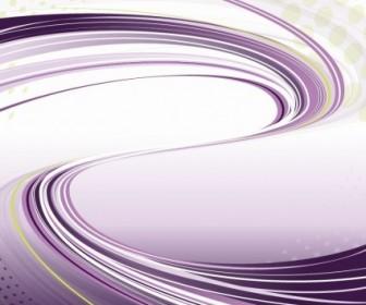 Vector Purple With Flowing Lines Background Vector Art