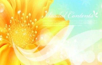 Vector Golden Flowers Banners Background Vector Art