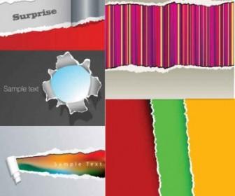 Vector Tear Paper Background Vector Art