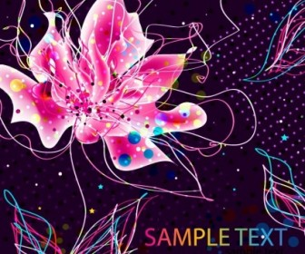 Vector Abstract Colorful Background Floral Vector Art