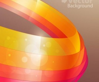 Vector Colorful Ribbons 2 Background Vector Art