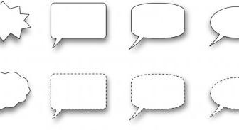 Vector Collection Of Speech Bubble Vector Clip Art