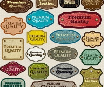 Vector Classic Label Stickers 02 Vector Art