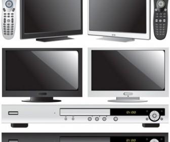 Vector Tv And Dvd Player Vector Art
