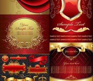 Vector Golden European Elements Vector Art